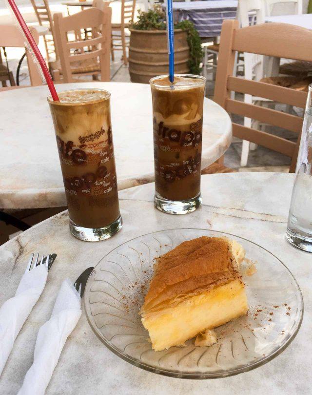 Nescafe Frappe and Galataburiko