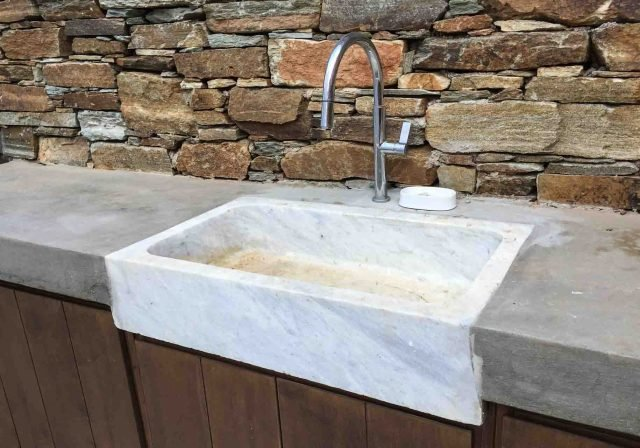 Greek marble sink