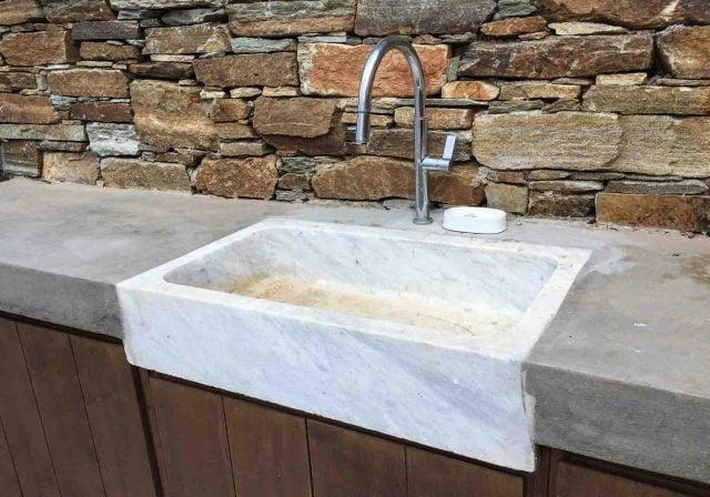 Greek marble sink