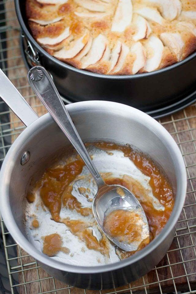 apricot jam for German Apple Almond Cake recipe