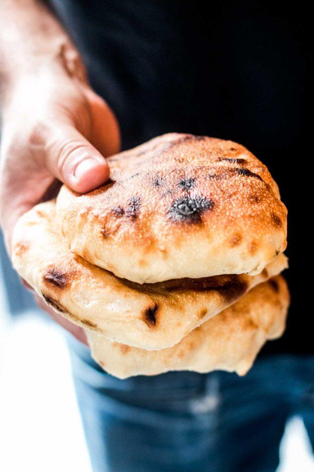 Housemade bread at Merguez & Pastrami deli in Paris