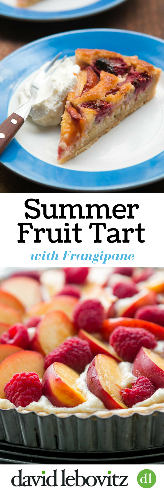A simple summer fruit tart recipe, with a base of almond cream and ripe fruit on top. Keeps well and is sure to become one of your favorite desserts!