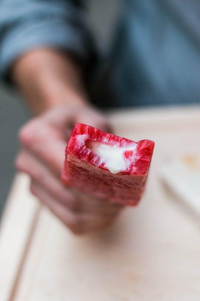 strawberry paleta at Le Newyorkina ice cream
