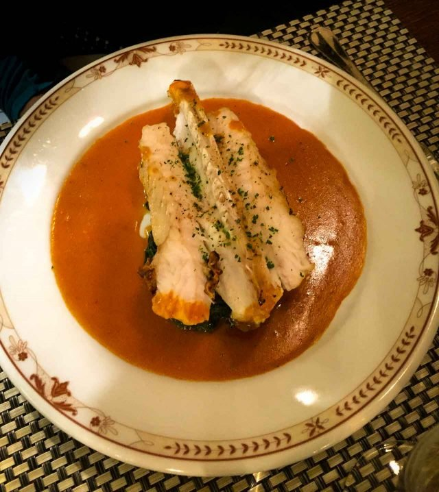 Monkfish at Moissonnier Paris restaurant