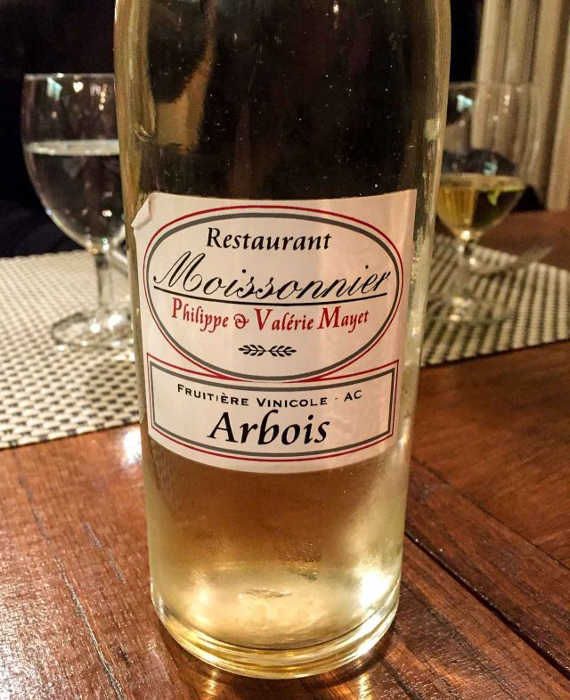 Jura wine Moissonnier Paris restaurant