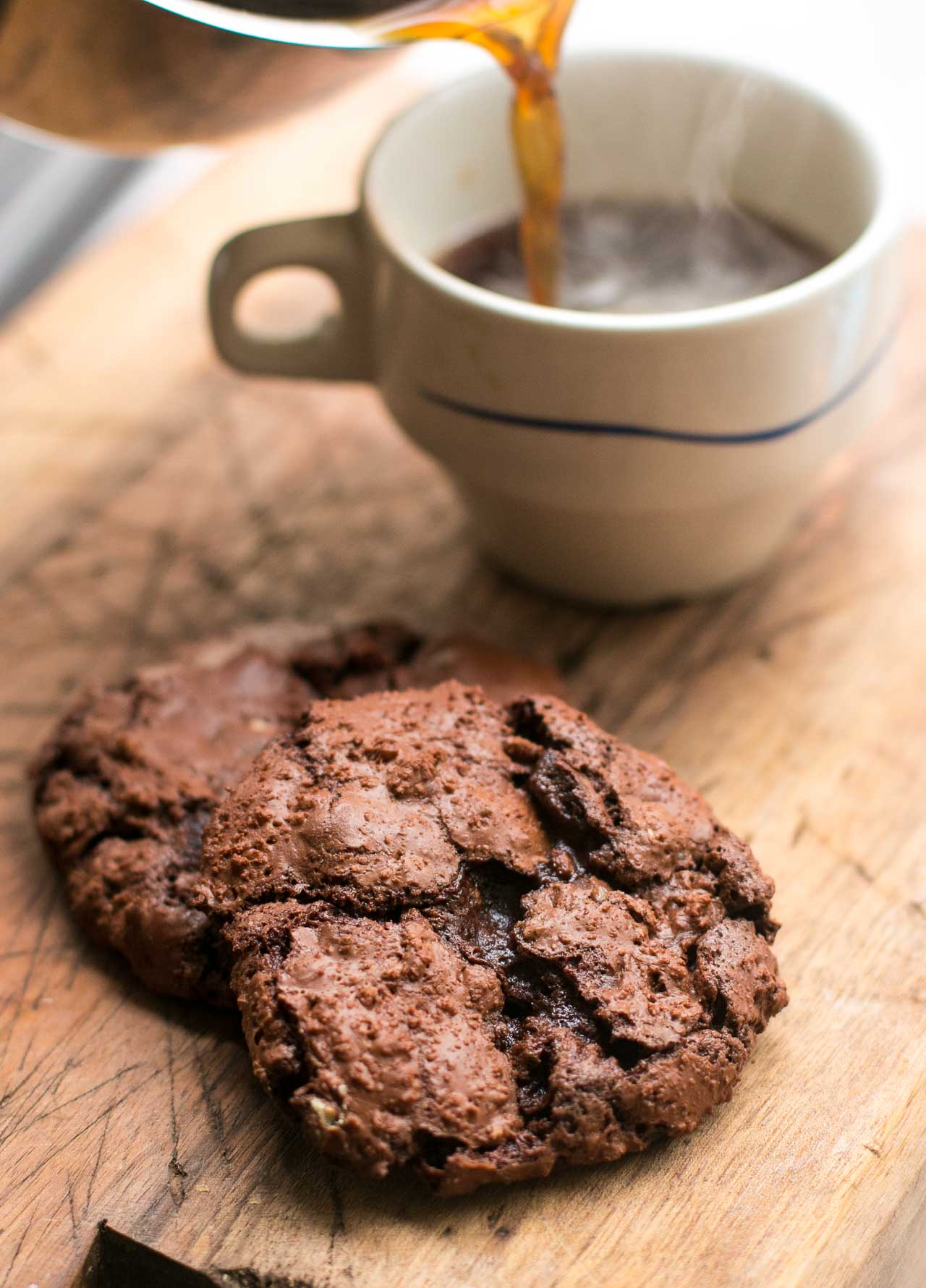 Amazingly decadent double chocolate chip cookies - the best!
