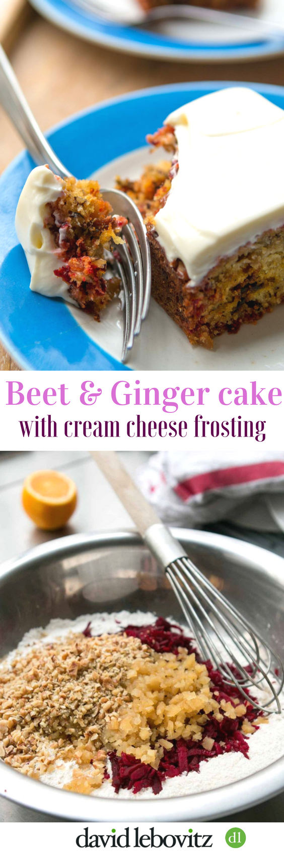 Beet and Ginger Cake with Cream Cheese Frosting - a delicious snack cake recipe!