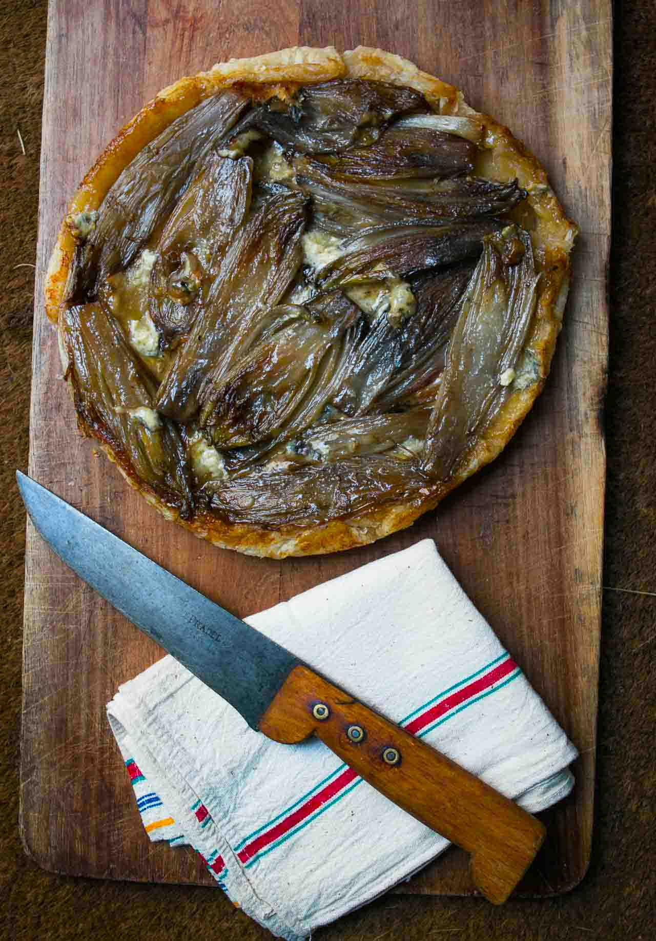 Caramelized Endive and Blue Cheese Tart: A great French recipe for lunch or dinner