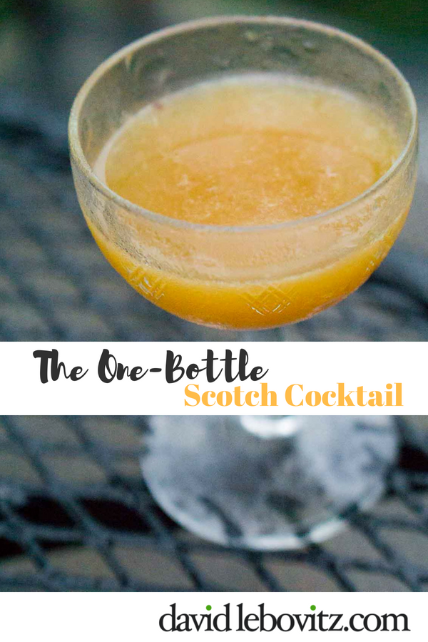 This whisky-based cocktail relies on just one bottle of liquor!