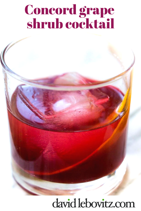 Concord Grape Shrub and Cocktail