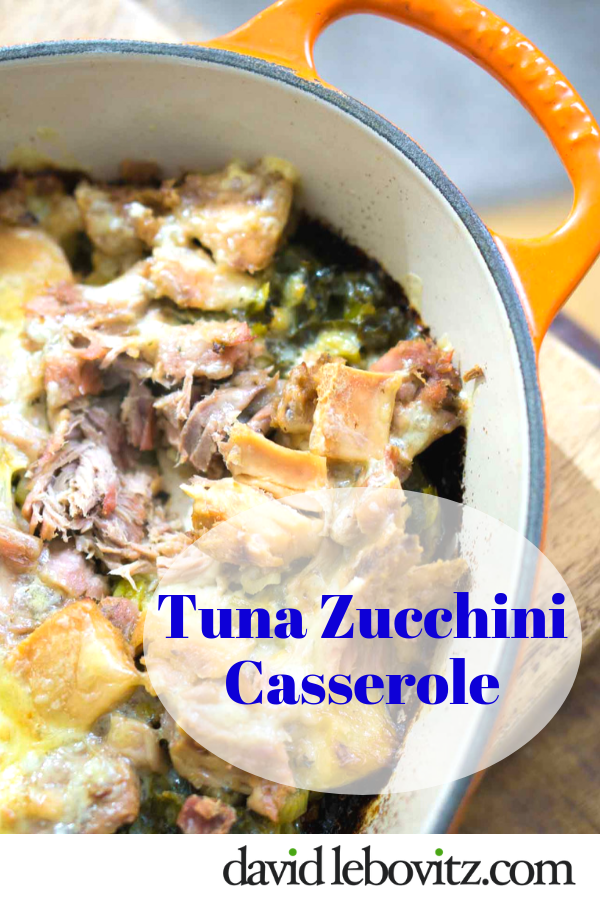 A warming casserole that melds roasted squash, tuna and melted cheese - comfort food at its best!