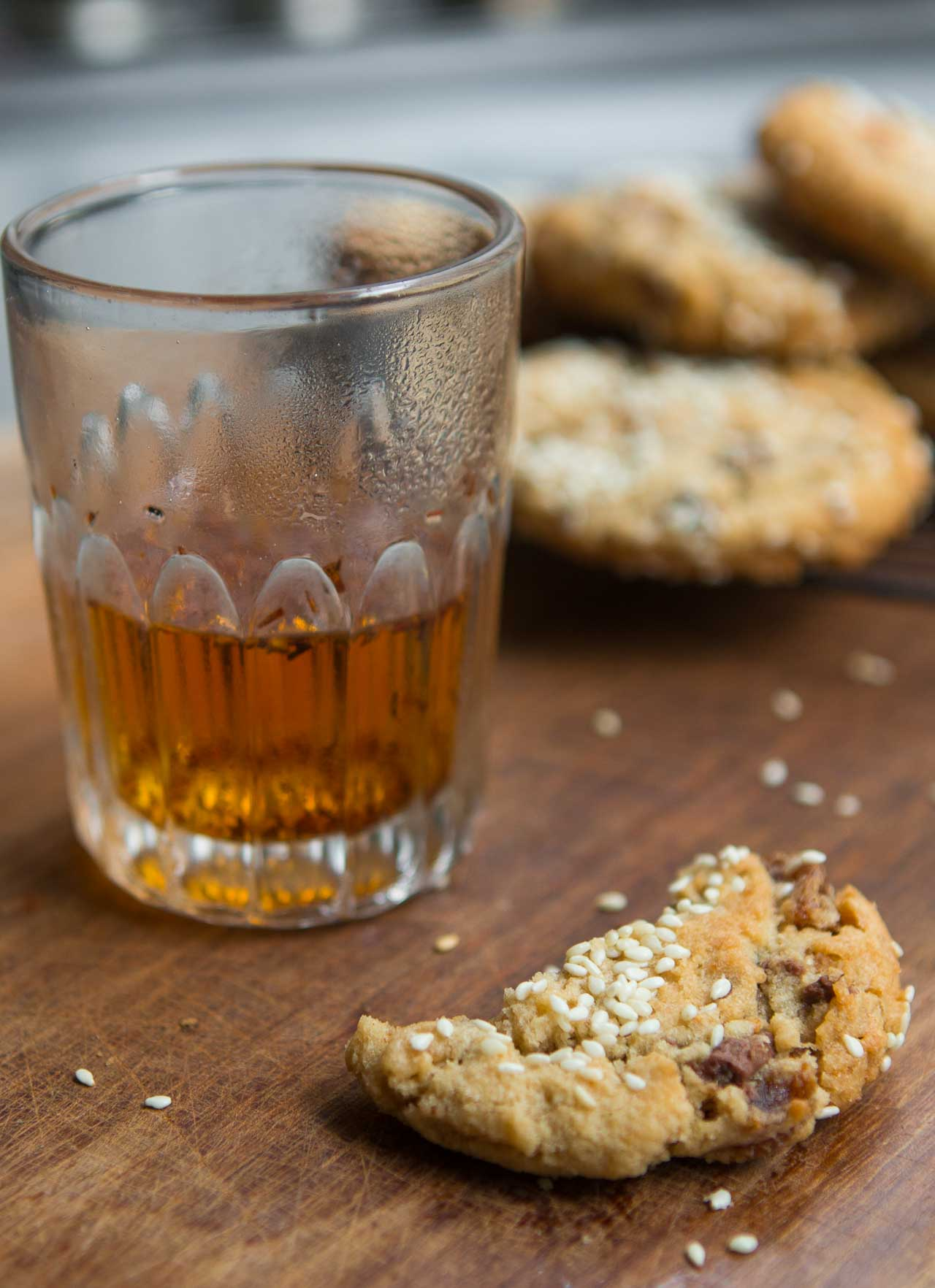 Fig, Tahini and Milk Chocolate Chip Cookies - David Lebovitz