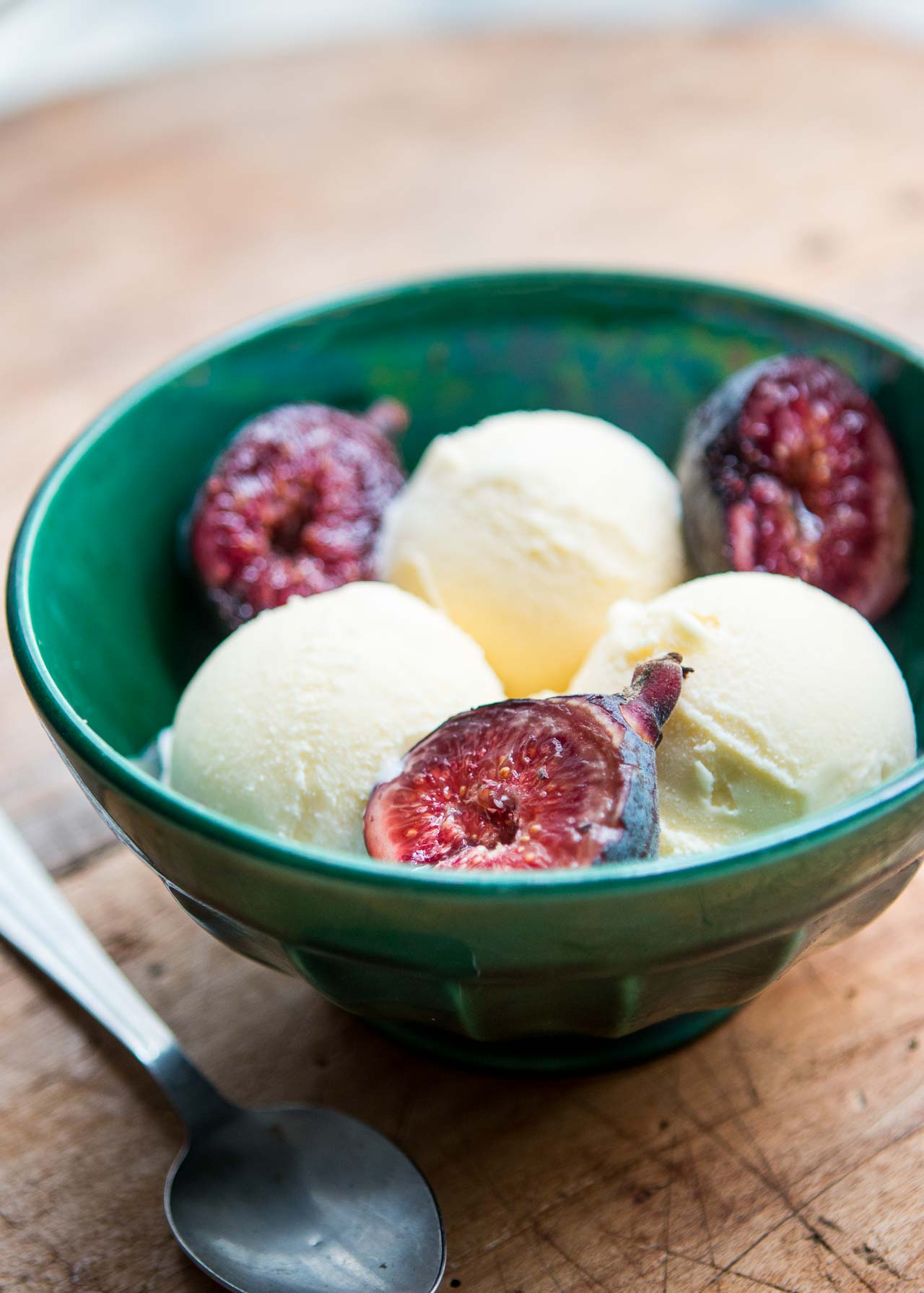 Fig Leaf and Honey Ice Cream - David Lebovitz