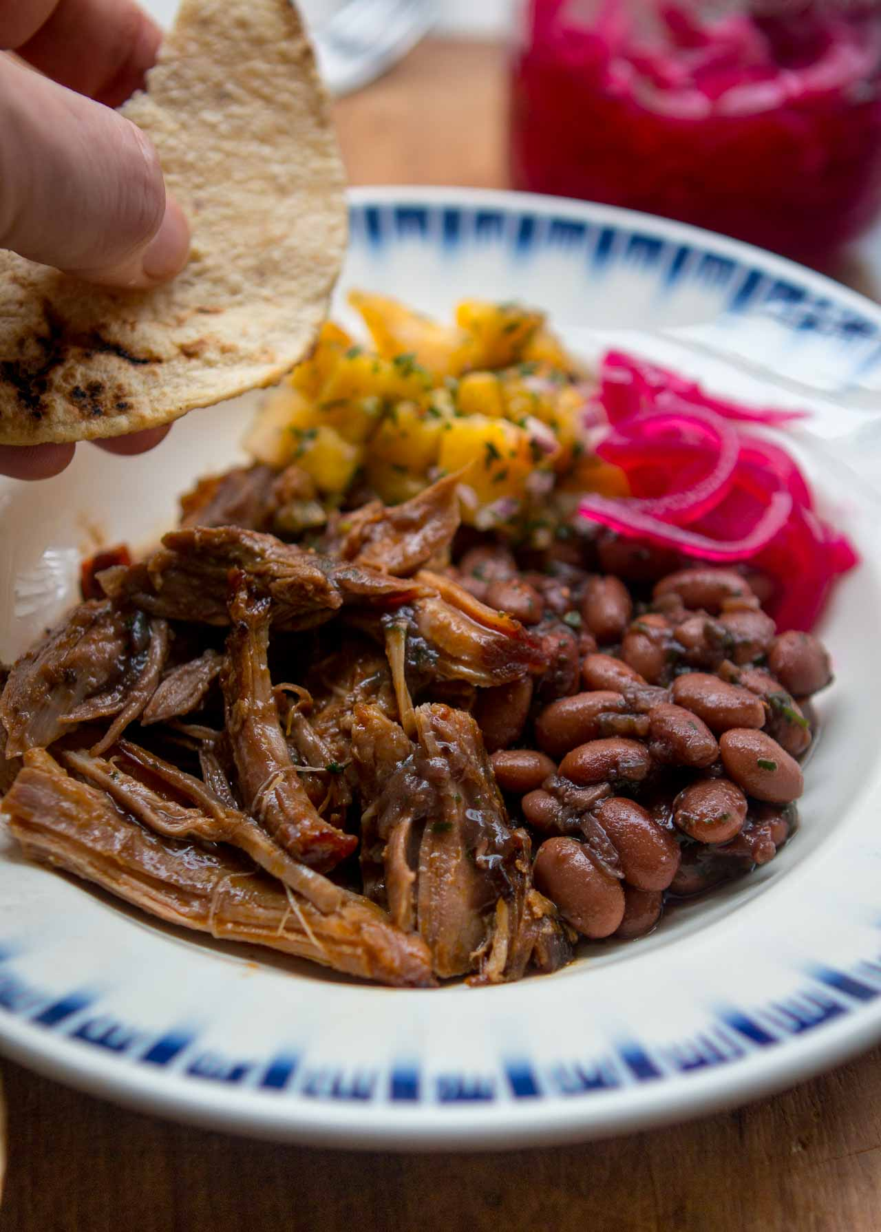 A one-pot meal that yields a generous pot of spicy, smoky long-cooked pork