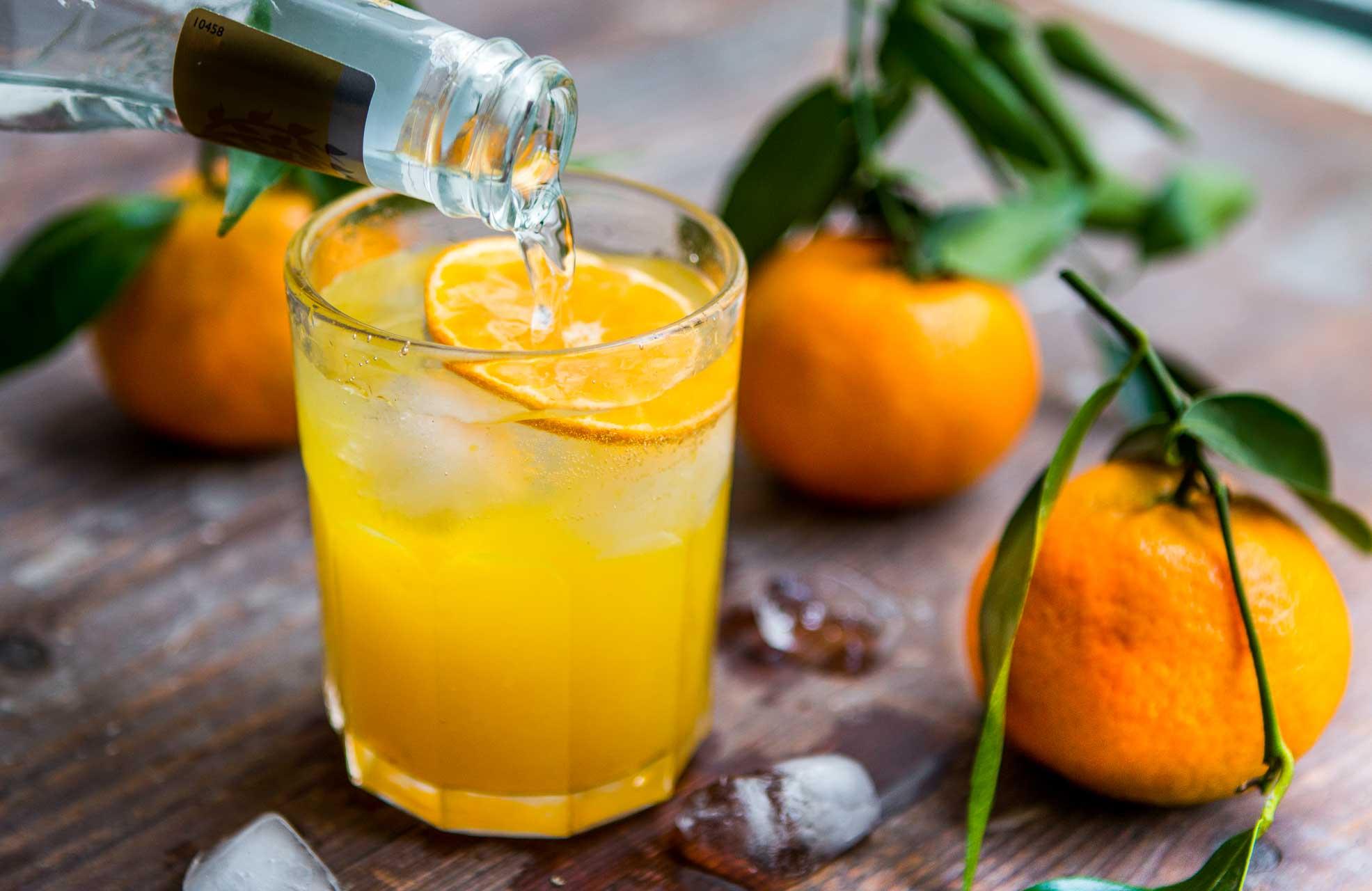 Le Soileil: Tangerine Cocktail