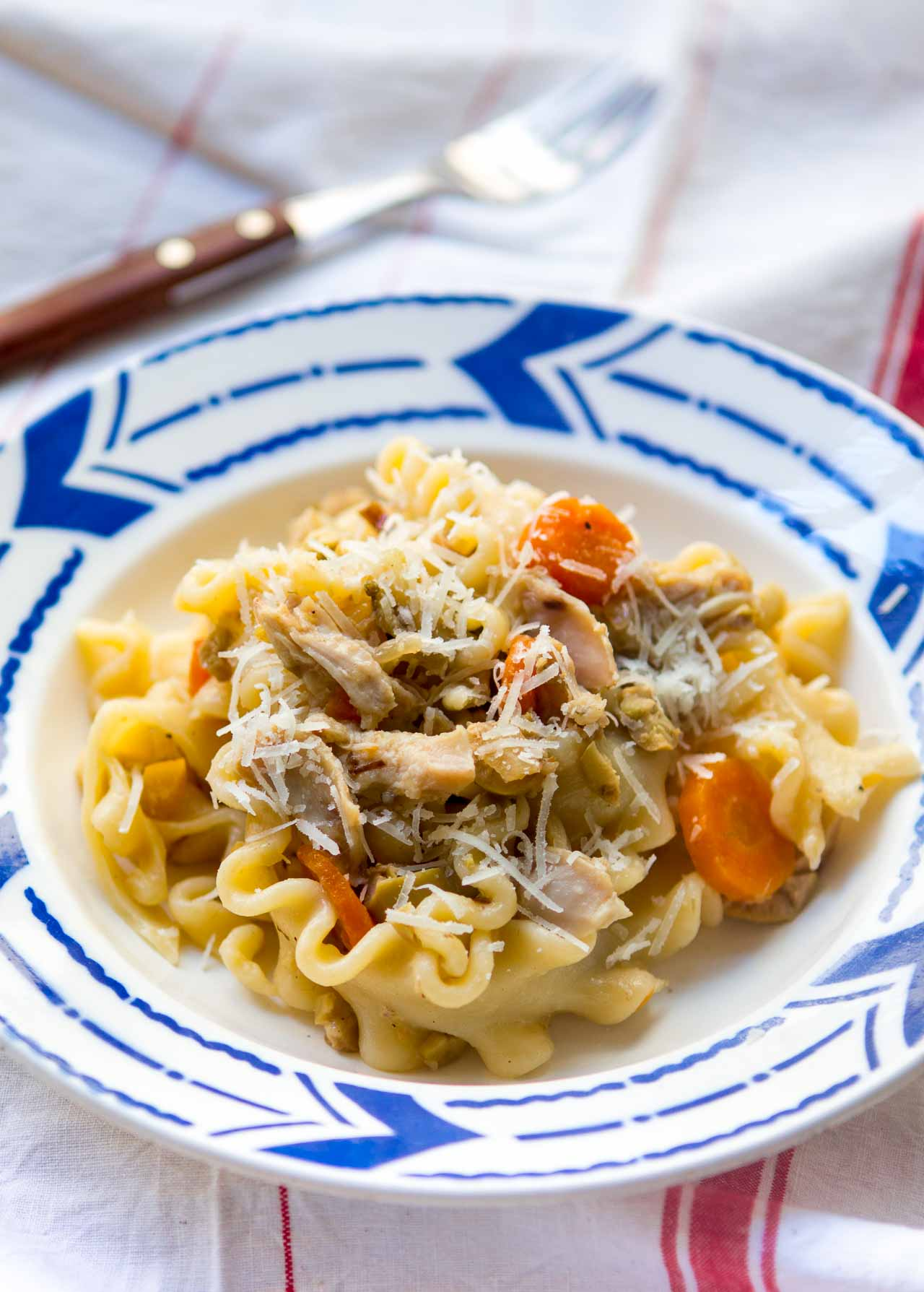 Rabbit Pasta with Green Olives, Fennel, and Preserved Lemons